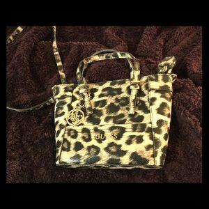 Guess Leopard Mini Satchel